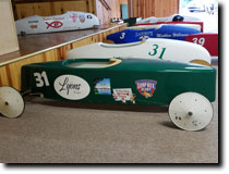 City of Lyons Soap Box Derby Stock Car featuring full vinyl wrap graphics by RG Graphix.