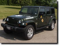 Jeep by Joshua Strang featuring custom graphics by RG Graphix.
