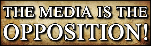 The Media Is The Opposition! Bumper Sticker