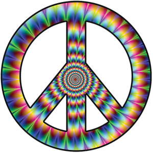 Psychedelic Peace Sign Decal.